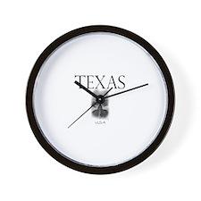 Texas Road Wall Clock