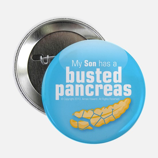 """My Son has a busted pancreas 2.25"""" button"""