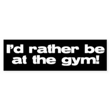 gym Bumper Bumper Sticker