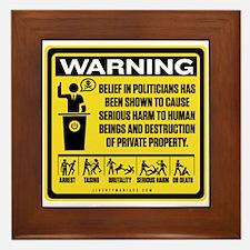 Politicians Warning Framed Tile