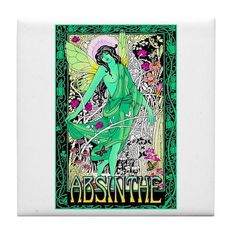 Absinthe Green Fairy Tile Coaster