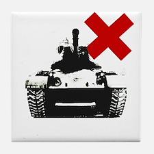 Tank Graffiti Stencil Tee Tile Coaster