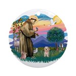 St.Fran. #2/ Havanese pup Ornament (Round)