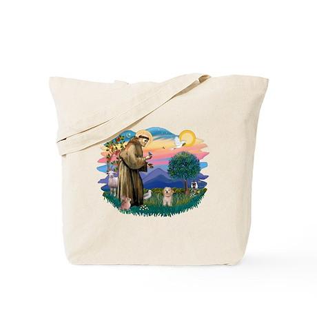 St.Fran. #2/ Havanese pup Tote Bag