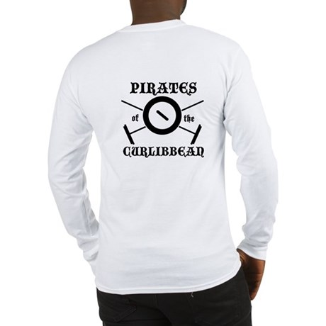 Curling Pirate Long Sleeve T-Shirt