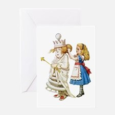 ALICE & THE WHITE QUEEN Greeting Card