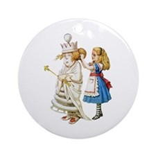 ALICE & THE WHITE QUEEN Ornament (Round)