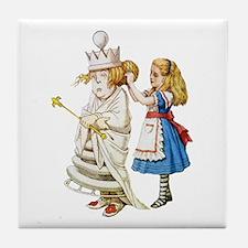 ALICE & THE WHITE QUEEN Tile Coaster