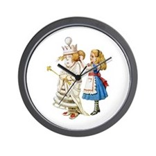 ALICE & THE WHITE QUEEN Wall Clock