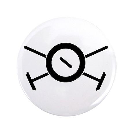 "Curling Pirate 3.5"" Button"