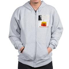 Rothbard's Button Zip Hoodie