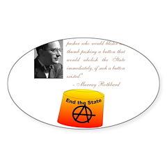 Rothbard's Button Decal