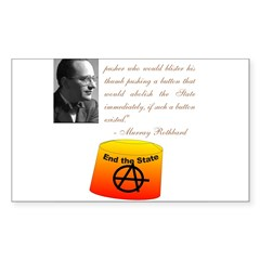 Rothbard's Button Decal