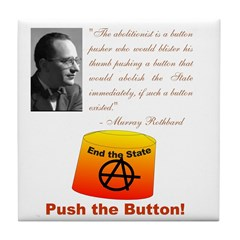 Rothbard's Button Tile Coaster