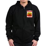 Complete with Button Zip Hoodie (dark)