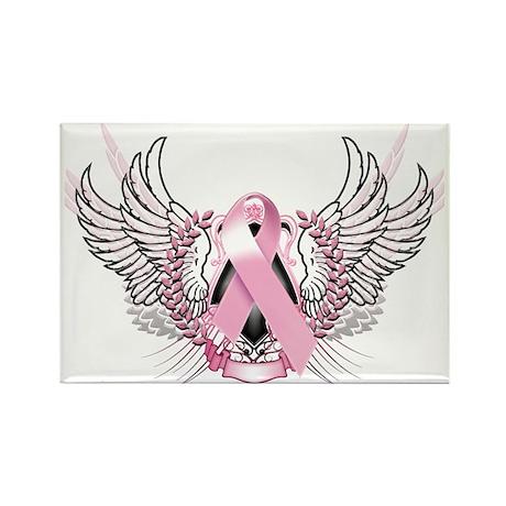 Awareness Tribal Pink Rectangle Magnet (10 pack)