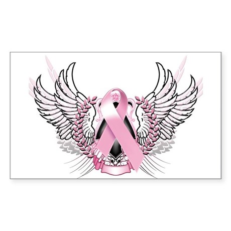 Awareness Tribal Pink Sticker (Rectangle)