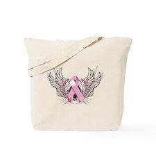 Awareness Tribal Pink Tote Bag