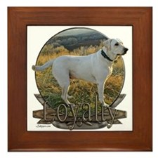 White lab loyalty Framed Tile