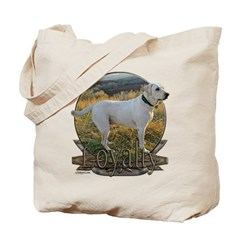 White lab loyalty Tote Bag