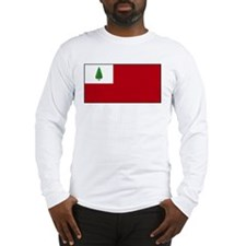 New England, Flags and Slogan Long Sleeve T-Shirt