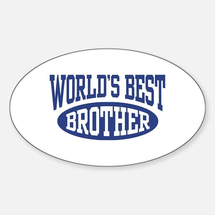 World's Best Brother Sticker (Oval)