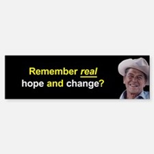 Reagan - real hope and change bumper sticker