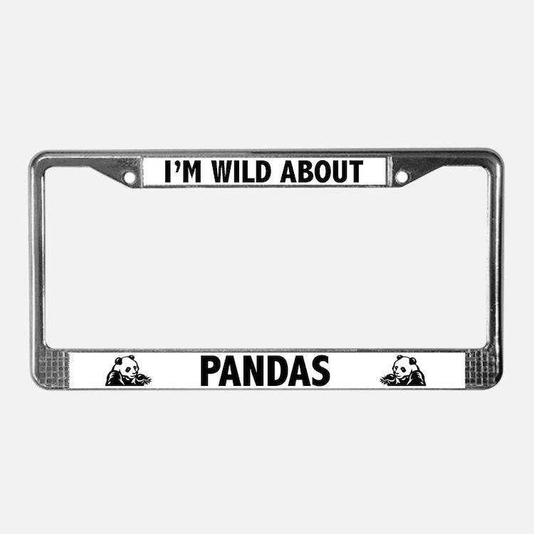 Panda Licence Plate Frames Panda License Plate Covers