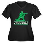 Commando Women's Plus Size V-Neck Dark T-Shirt