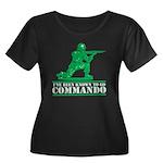 Commando Women's Plus Size Scoop Neck Dark T-Shirt