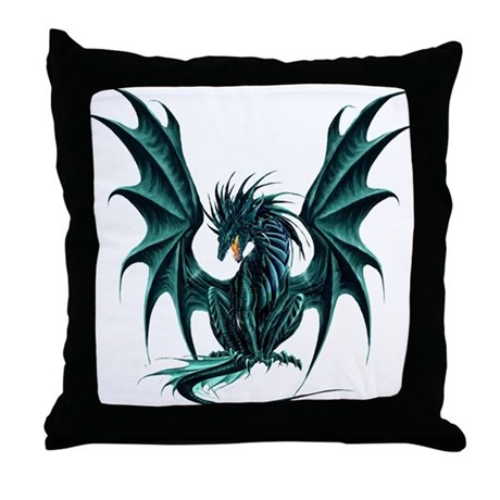 Ruth Thompson's Jade Dragon Throw Pillow