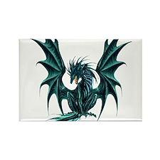 Ruth Thompson's Jade Dragon Rectangle Magnet