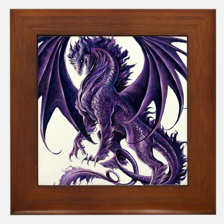 Ruth Thompson's Draconis Nox Dragon Framed Tile