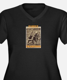 Unique Tennessee volunteers Women's Plus Size V-Neck Dark T-Shirt