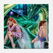 Ruth Thompson's Gemini Faeries Tile Coaster