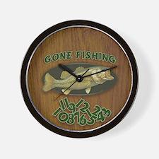 Gone Fishing Wall Clock