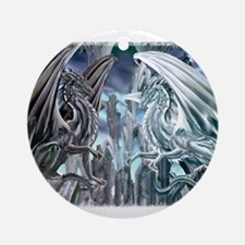 Ruth Thompson's Checkmate Dragon Ornament (Round)