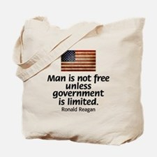 Man is not free unless... Tote Bag