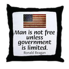 Man is not free unless... Throw Pillow