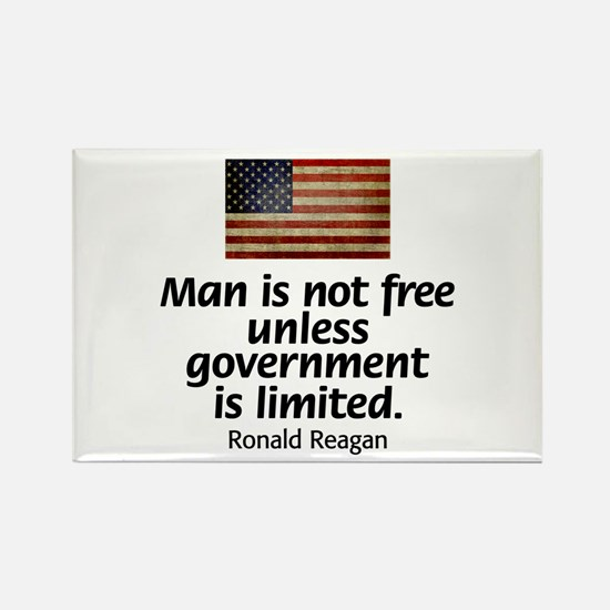 Man is not free unless... Rectangle Magnet