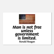 Man is not free unless... Postcards (Package of 8)