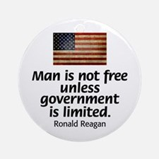 Man is not free unless... Ornament (Round)