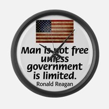 Man is not free unless... Large Wall Clock