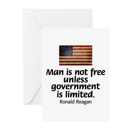 Man is not free unless... Greeting Cards (Pk of 10