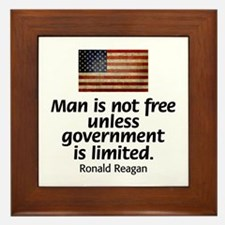 Man is not free unless... Framed Tile