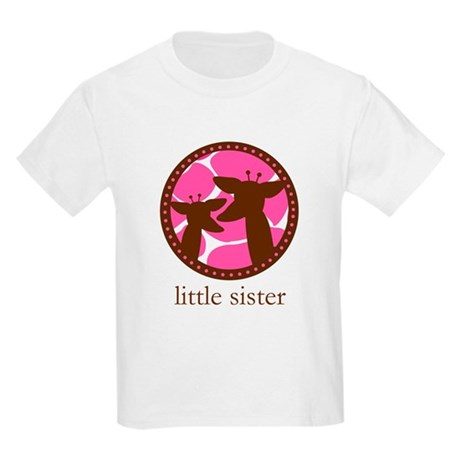 giraffe little sister Kids Light T-Shirt