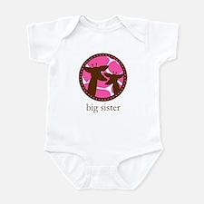 giraffe big sister Infant Bodysuit