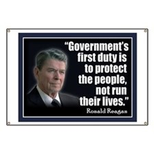 REAGAN: Government's first duty... QUOTE Banner