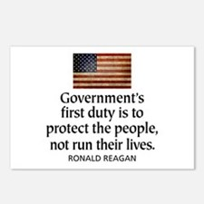 REAGAN: Government's first duty... QUOTE Postcards