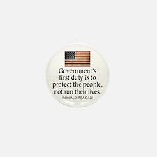 REAGAN: Government's first duty... QUOTE Mini Butt